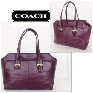 Coach Taylor Oxblood Exotic Collection Alexis Tote
